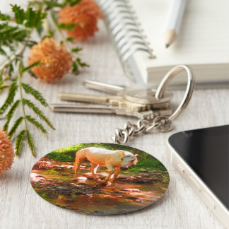 Palomino-Quarterhorse Schlüsselanhänger