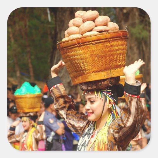 Panagbenga Festival Quadratischer Aufkleber