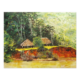 Panama-Aquarell Ankündigungskarte
