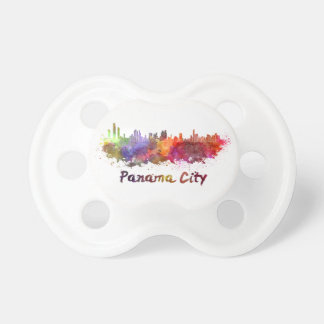 Panama City skyline im Watercolor Schnuller