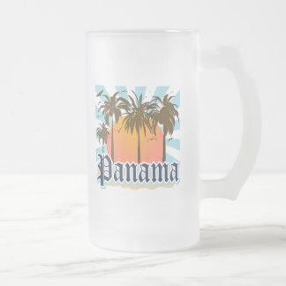 Panama-Stadt Andenken Mattglas Bierglas