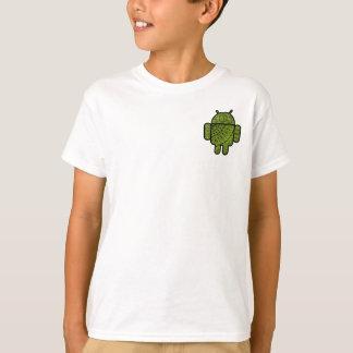 Pancho Gekritzel-Charakter für Android™ Roboter T-Shirt