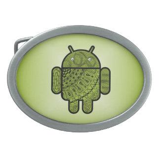 Pancho Gekritzel für Android™ Ovale Gürtelschnallen