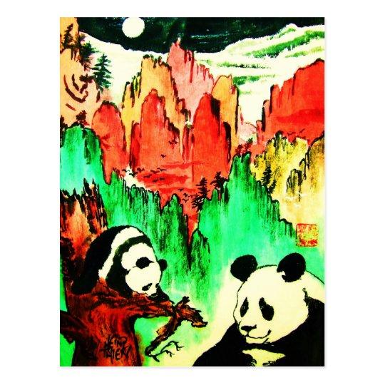 Panda 04 * Panda-Kunst-Postkarte * Panda-Postcards Postkarte