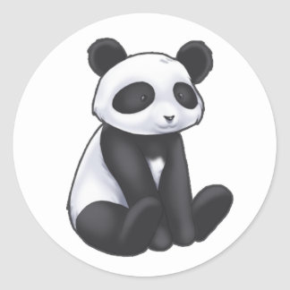 Panda-Aufkleber