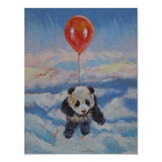 Panda-Ballon 10,8 X 14 Cm Einladungskarte