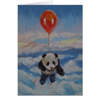 Panda-Ballon Karte