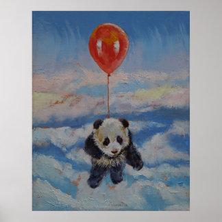 Panda-Ballon Poster