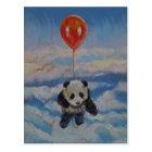 Panda-Ballon Postkarte