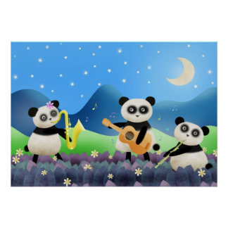 Panda-Band - Plakatdruck