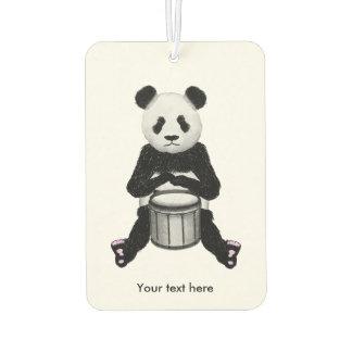 Panda-Bär, der die Trommel-Illustration spielt Lufterfrischer