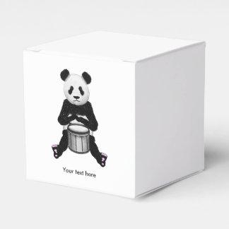 Panda-Bär, der die Trommeln spielt Geschenkschachtel