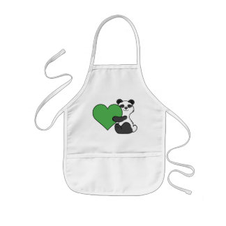 Panda-Bär des Valentines niedlicher Tagesmit Kinderschürze