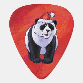 Panda-Bär in der Weihnachtsmannmütze auf Rot Plektron