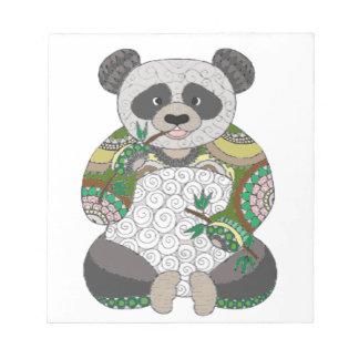 Panda-Bär Notizblock
