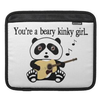 Panda-Bär schaukelt heraus Sleeve Für iPads
