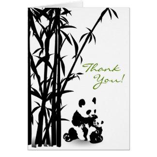 Panda-Bären und Bambus danken Ihnen zu kardieren Karte
