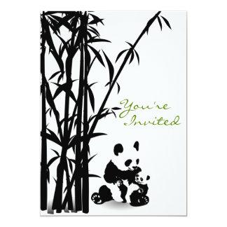 Panda-Bären und BambusBabyparty-Einladung 12,7 X 17,8 Cm Einladungskarte