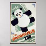 Panda-Bärn-Besuch der Brookfield Zoo WPA Posterdruck