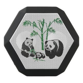 Panda-Bärn-Familie Schwarze Bluetooth Lautsprecher