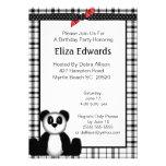Panda-Bärn-Geburtstags-Einladung