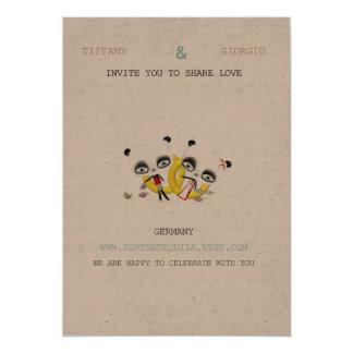 Panda-Bärn-Hochzeits-Einladung 12,7 X 17,8 Cm Einladungskarte