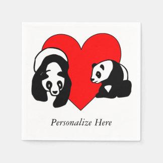 Panda-Bärn-Liebe Papierserviette