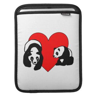Panda-Bärn-Liebe Sleeve Für iPads