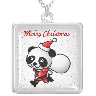 Panda-Bärn-Sankt-Weihnachtshalskette Versilberte Kette