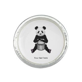 Panda-Bärn-Trommel-Illustration Ring