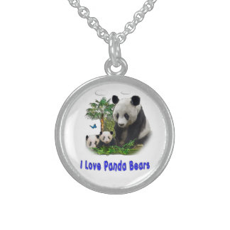 Panda-Bärnwaren Sterling Silberkette