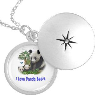 Panda-Bärnwaren Versilberte Kette