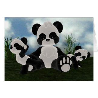 Panda Bearz sonniger Tageskarte Karte