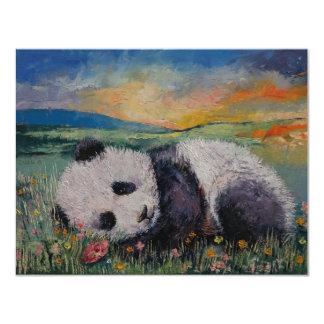 Panda-Blumen 10,8 X 14 Cm Einladungskarte