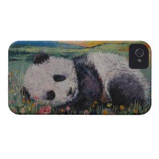 Panda-Blumen iPhone 4 Etuis