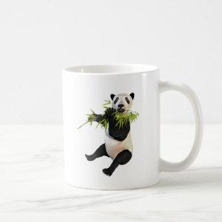 Panda, der Bambus-Blätter isst Kaffeetasse
