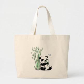 Panda der Bambus isst Einkaufstasche