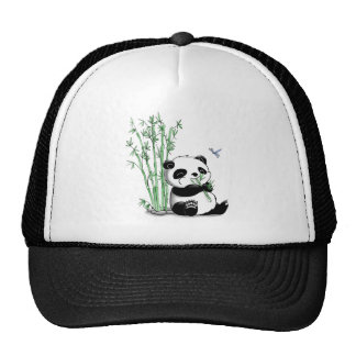 Panda, der Bambus isst Retrokultkappen