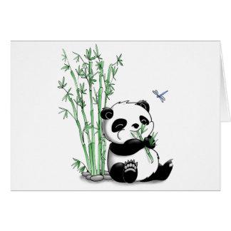 Panda, der Bambus isst Karte