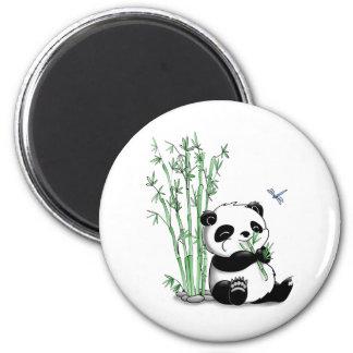 Panda der Bambus isst Magnets