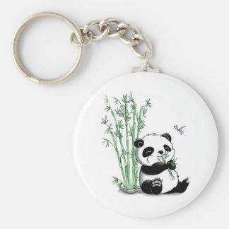 Panda der Bambus isst Schlüsselband