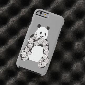 Panda, der Bambusillustration isst Tough iPhone 6 Hülle
