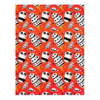 Panda-Eiscreme-Muster Postkarten