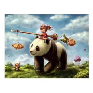 Panda-Fahrt Postkarte
