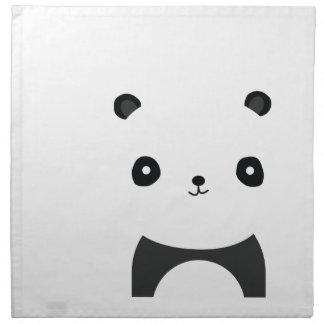 Panda-feste Umarmungen Stoffserviette