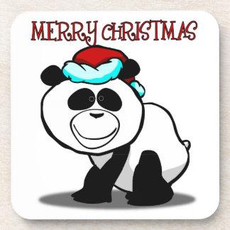 Panda-frohe Weihnacht-Untersetzer Getränke Untersetzer