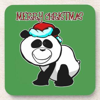 Panda-frohe Weihnacht-Untersetzer