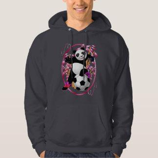Panda-Fußball-Shirts Kapuzensweater