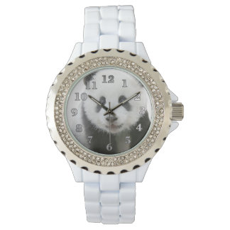 Panda-Gesicht Armbanduhr