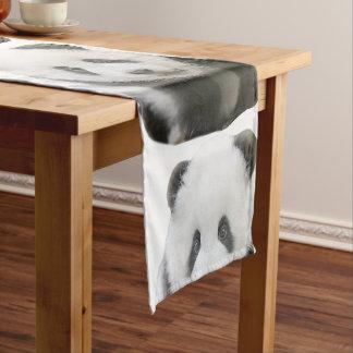 Panda-Gesicht Kurzer Tischläufer